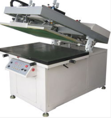 Oblique arm screen printing machines