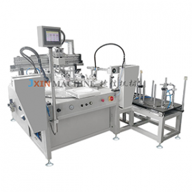 Automatic Loading and Unloading Flat Bed Screen Printing Machine