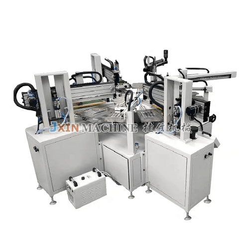 Three-color Automatic Flat Screen Printing Machine