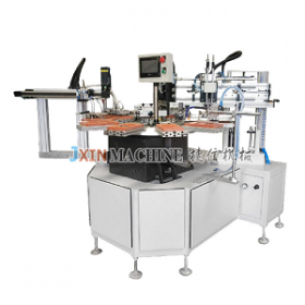 Two-color Rotary Flat Bed Screen Printing Machine